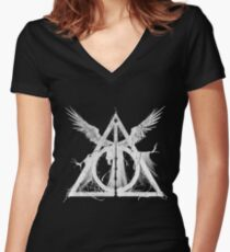 Deadly Hallows Women's Fitted V-Neck T-Shirt