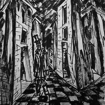 The City of Towers. Brush Pen Sketch, 2013 by IgorPozdnyakov
