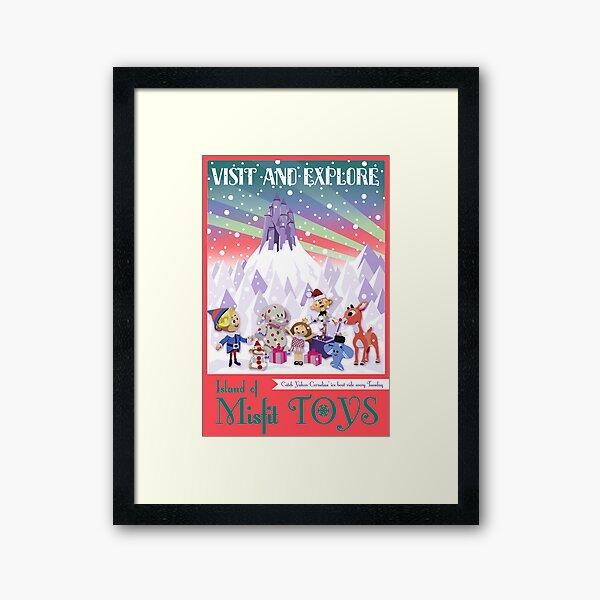 Island of Misfit Toys - Rudolph Vintage Style Travel Poster Framed Art Print