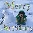Teddy bear snowman by Dean Harkness