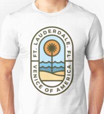 Fort Lauderdale Florida Badge Unisex T-Shirt