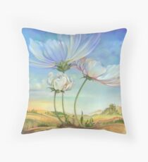 In the Half-shadow of Wild Flowers Throw Pillow