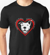 Second Hand Pitties Give First Class Love   Pit Bull Terrier   NickerStickers on Redbubble Slim Fit T-Shirt