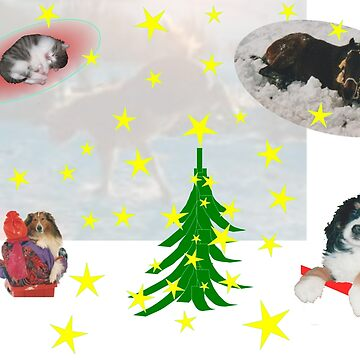 Animals celebrate Christmas by unsichtbar