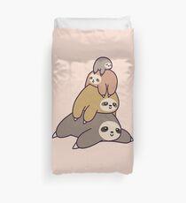 stack of sloths Duvet Cover