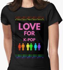 Love For K-Pop Tailliertes T-Shirt