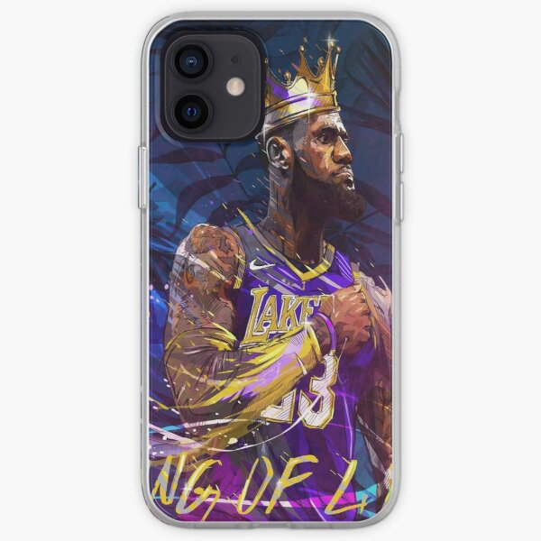 Lebron en los Lakers Funda blanda para iPhone