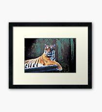 Tiger texture Framed Print