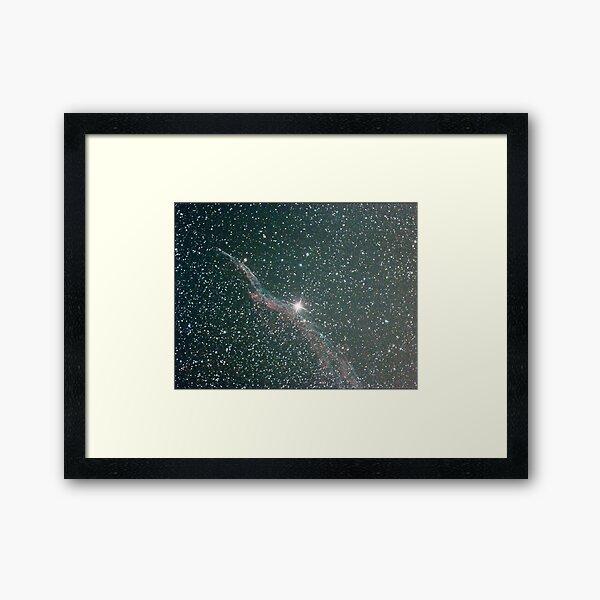 witches broom nebula NGC6960 Framed Art Print