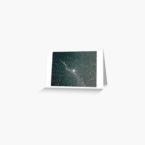 witches broom nebula NGC6960 Greeting Card