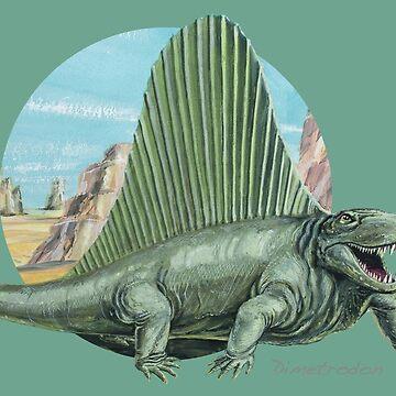 Dimetrodon (Circle Background) by lewisroland