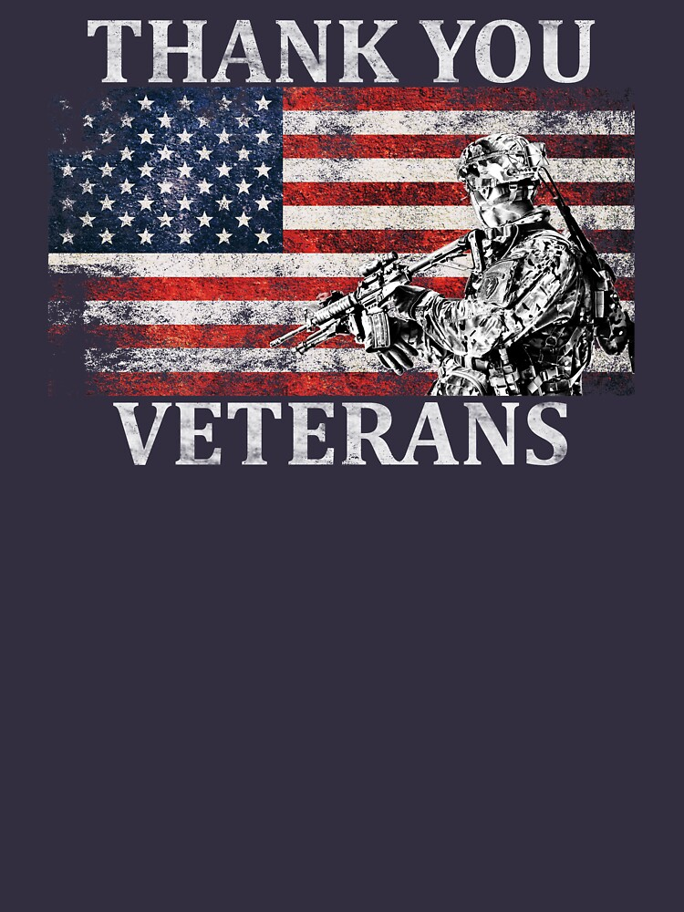 American Flag Thank You Veterans Veteran's Day Soldier Shirt Gear by DynamicDesign