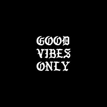 Typographic Good Vibes Only Hand Lettering by artworkbyrihen