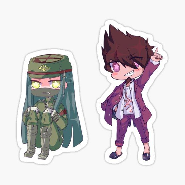 korekiyo and kaito Sticker