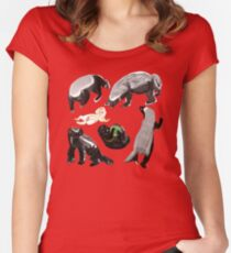 Ratel Honey Badger Women's Fitted Scoop T-Shirt