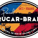 Rucăr-Bran Pass Romania T-Shirt + Sticker  by ROADTROOPER