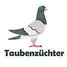 Pigeon pigeon fancier gift bird Wood pigeon turtle pigeon by ArtOfCopenhagen