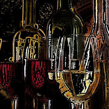 Wine in Red and Gold by JMarielle