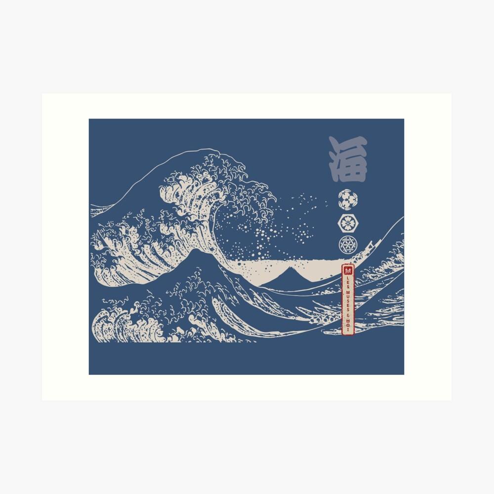 Impression artistique «La Grande Vague de Kanagawa»