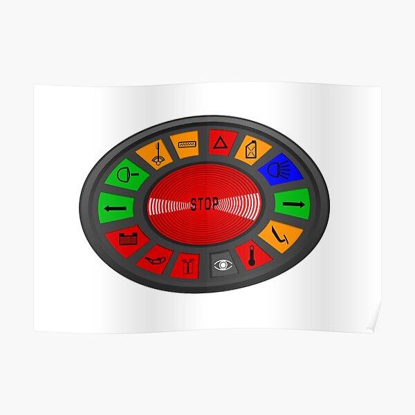 Citroën SM dashboard warning lights Poster