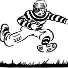 Vintage Comic Book Football Player by PZAndrews