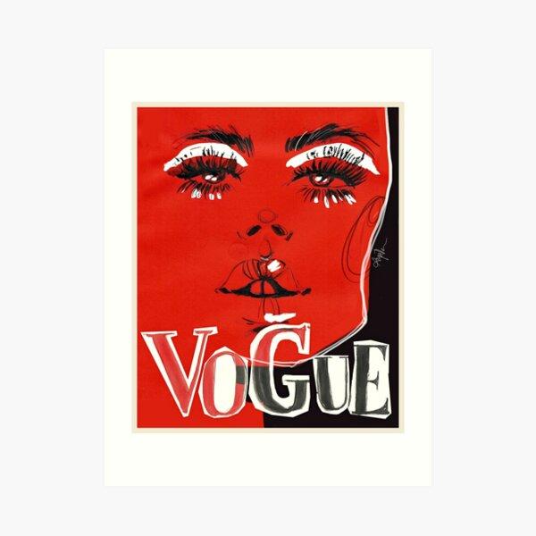 V.O.G.U.E. #fashionillustration Art Print