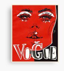 V.O.G.U.E. #fashionillustration Canvas Print