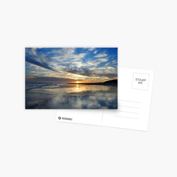 Redhead Beach Sunset Postcard