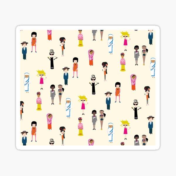 Strong women - cream ground Sticker