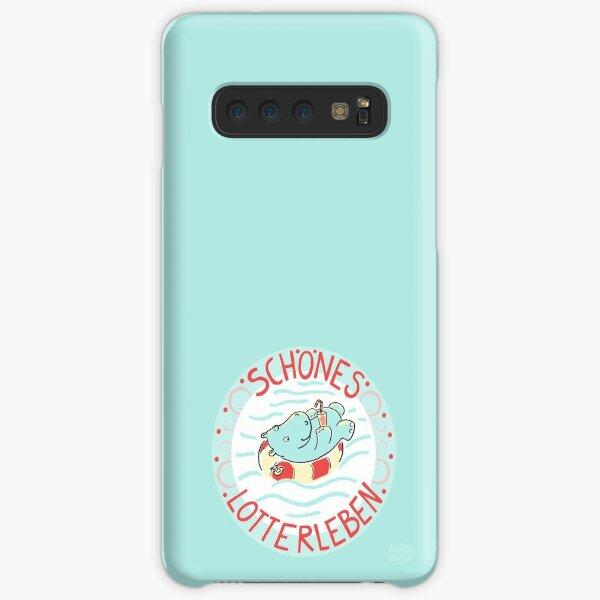 NILPFERD im Schwimmreif - Logo Samsung Galaxy Leichte Hülle