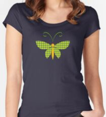 Butterfly 3 Women's Fitted Scoop T-Shirt