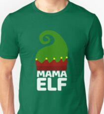 MAMA ELF Funny Christmas Design | Santa Christmas Art Unisex T-Shirt