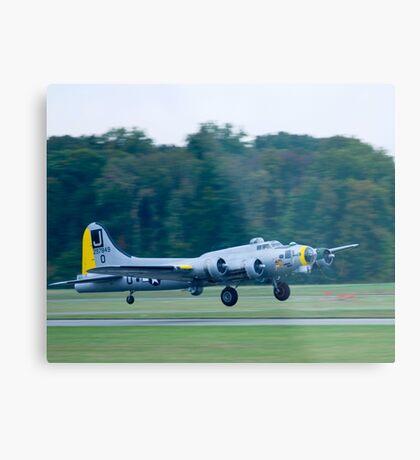 B-17 Bomber Take Off Metal Print