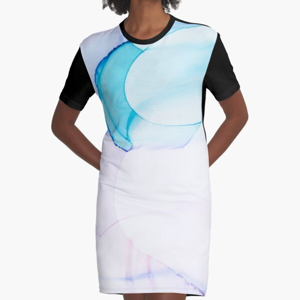 Spectre of Joy Abstract Painting Fluid Ink Art Graphic T-Shirt Dress