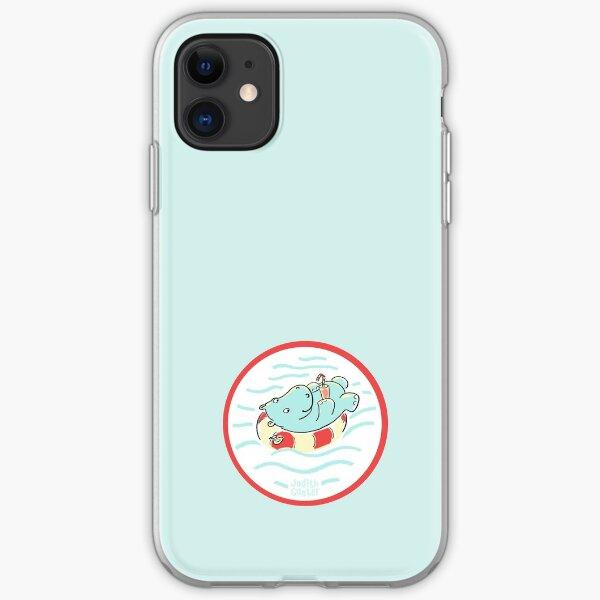 Nilpferd im Schwimmreif - Logo iPhone Flexible Hülle