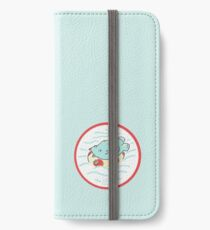 Nilpferd im Schwimmreif - Logo iPhone Flip-Case/Hülle/Klebefolie