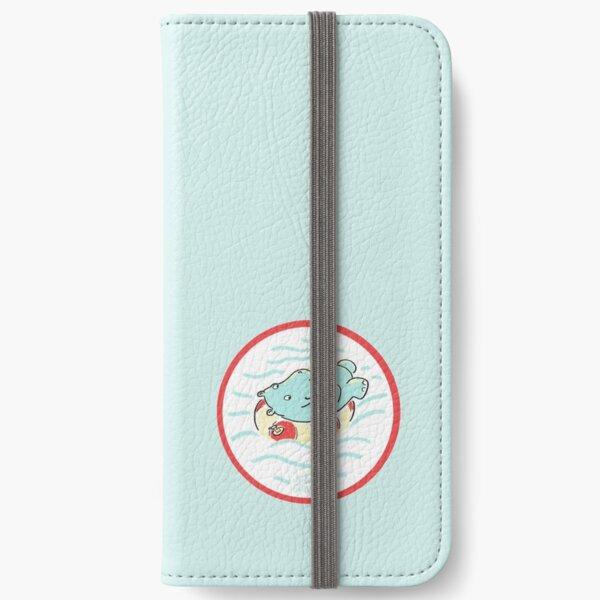 Nilpferd im Schwimmreif - Logo iPhone Flip-Case