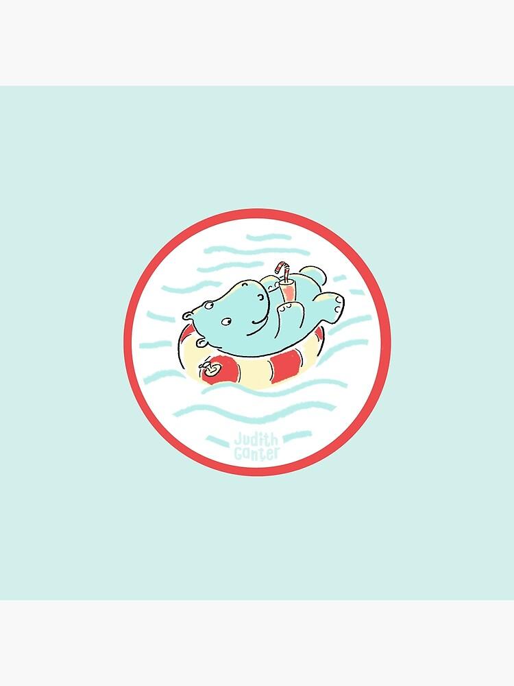Nilpferd im Schwimmreif - Logo von JudithGanter
