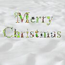 Merry Christmas illuminated letters by Dean Harkness