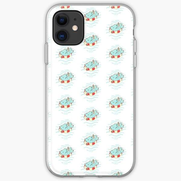 Nilpferd im Schwimmreif - Muster iPhone Flexible Hülle