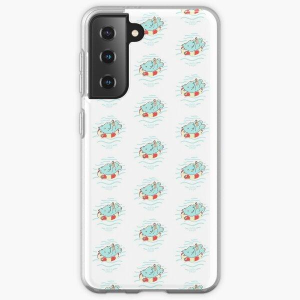 Nilpferd im Schwimmreif - Muster Samsung Galaxy Flexible Hülle