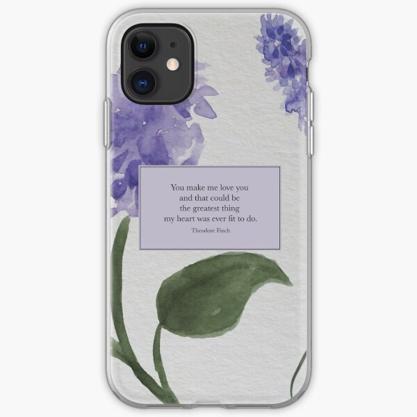 You make me love you... - Theodore Finch. All The Bright Places. iPhone Soft Case