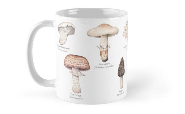 Edible Mushrooms Mug by lifescience