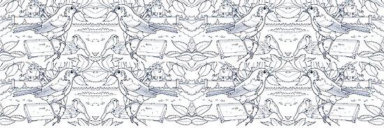 Robin Toile de Jouy inspiriert Blau von David Roland