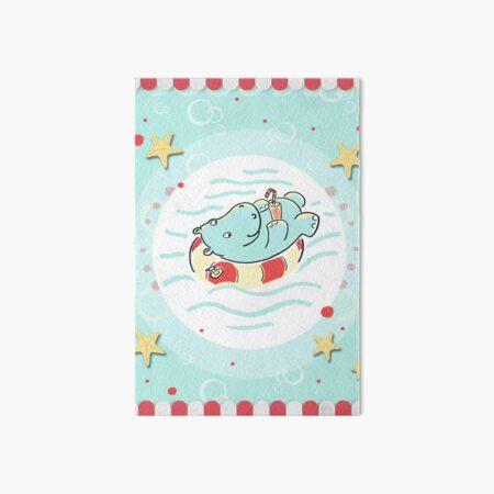 Nilpferd im Schwimmreif - Markise Galeriedruck