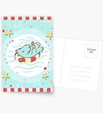 Nilpferd im Schwimmreif - Markise Postkarten