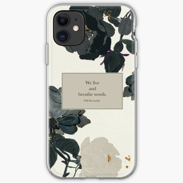 We live and breathe words. - Will Herondale. The Infernal Devices. iPhone Soft Case