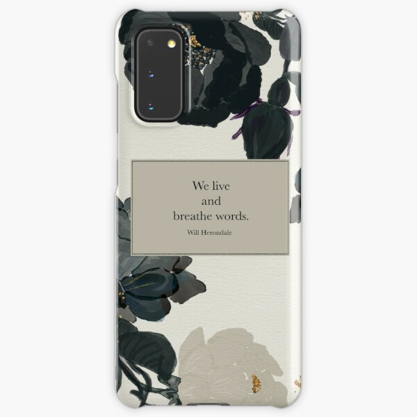 We live and breathe words. - Will Herondale. The Infernal Devices. Samsung Galaxy Snap Case