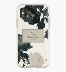 We live and breathe words. - Will Herondale. The Infernal Devices. iPhone Case