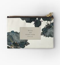 We live and breathe words. - Will Herondale. The Infernal Devices. Studio Pouch